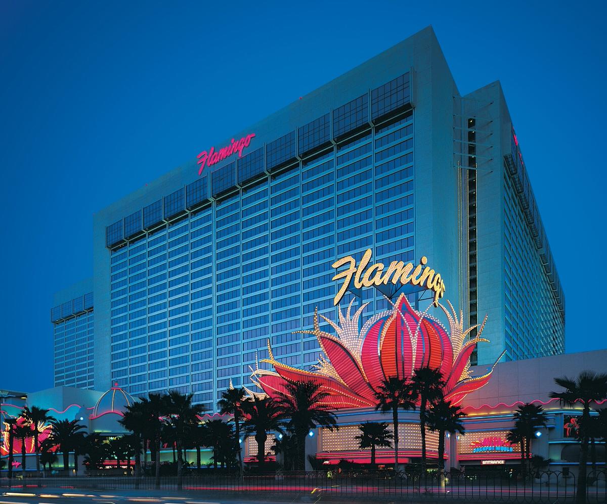 Flamingo Las Vegas at dusk