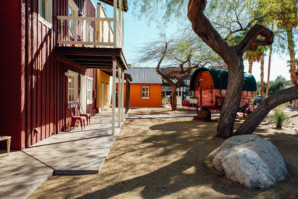 Palm Canyon's Old Western-inspired hotel grounds