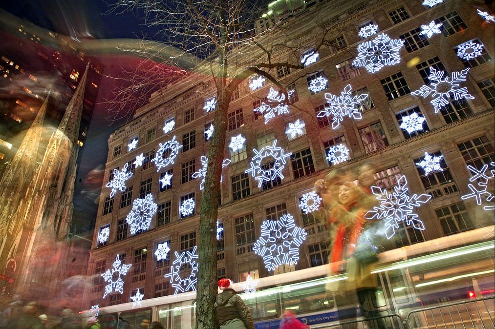 Dancing Snowflakes at Rockefeller Center, Manhattan