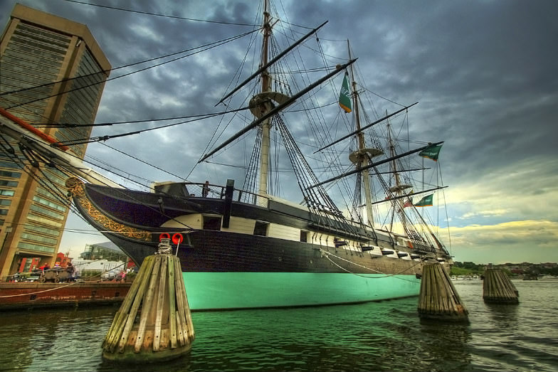 The USS Constellation is one of Baltimore's main attractions.