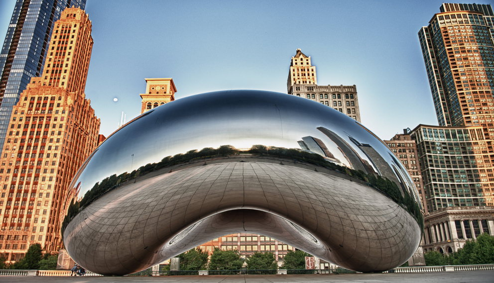The Chicago Bean at Sunrise