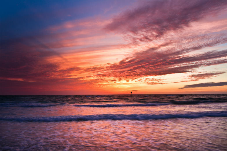 Sunset at Clearwater Beach in Clearwater Florida