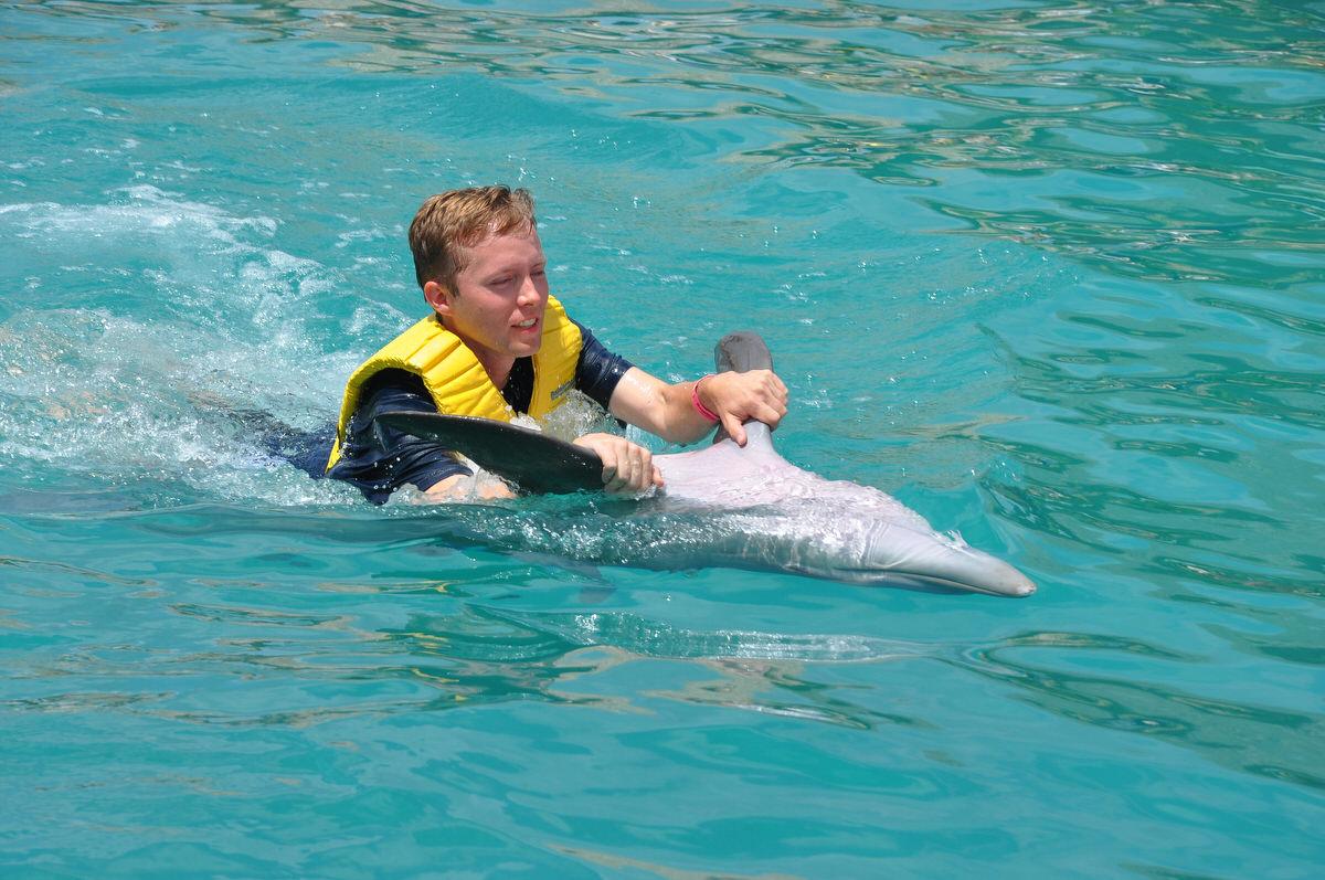 Dolphin ride in Cozumel