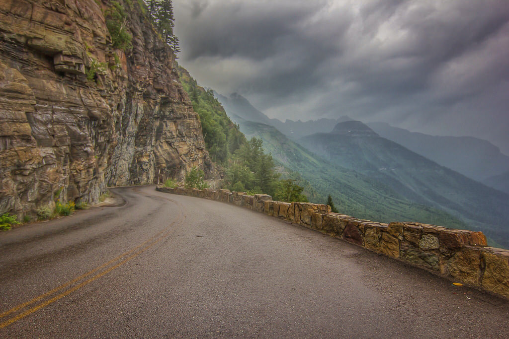 Going-to-the-Sun Road in the Glacier National Park