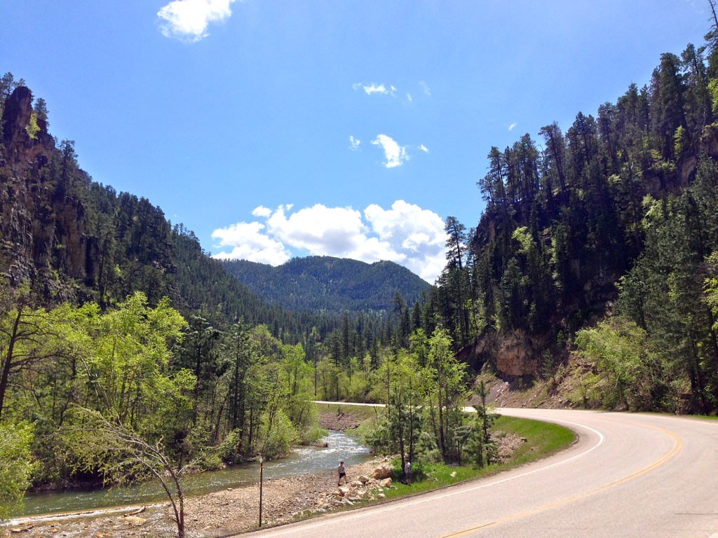Spearfish Canyon Scenic Byway in South Dakota
