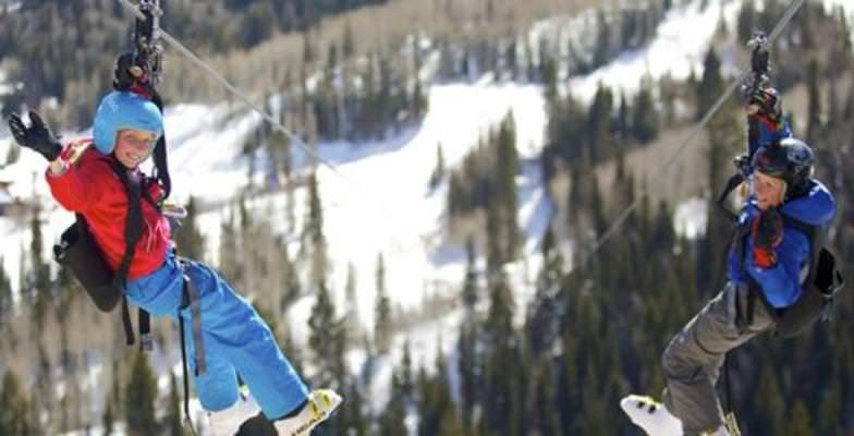 late-season skiing: Canyon Resort