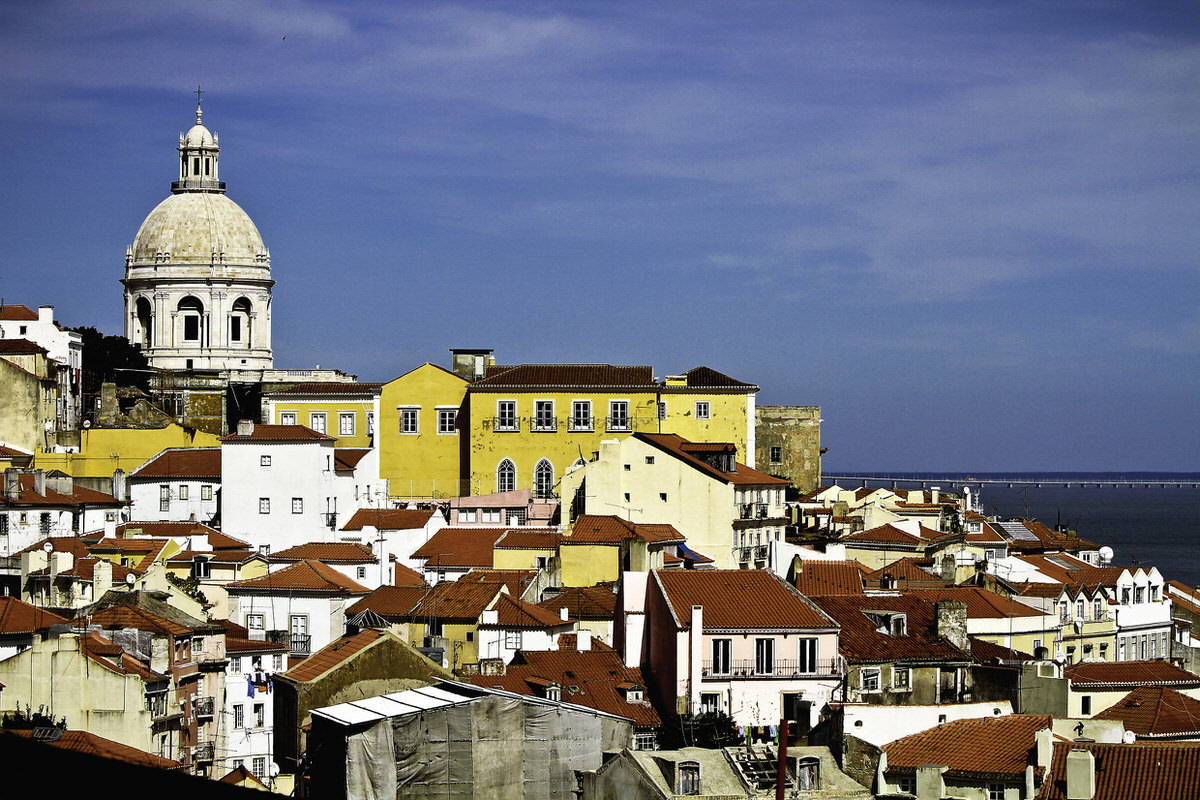 Lisbon's historical center skyline.
