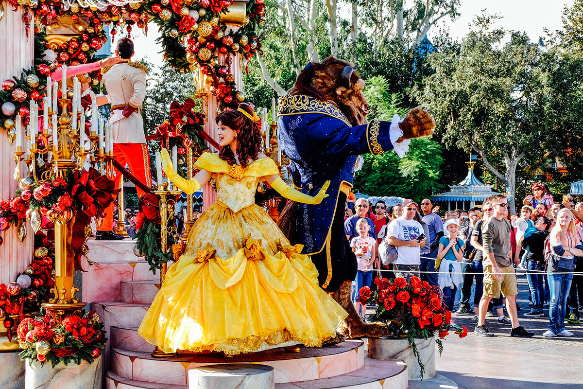 """""""A Christmas Fantasy"""" Parade is one of the best things to do at Disneyland during the holidays."""