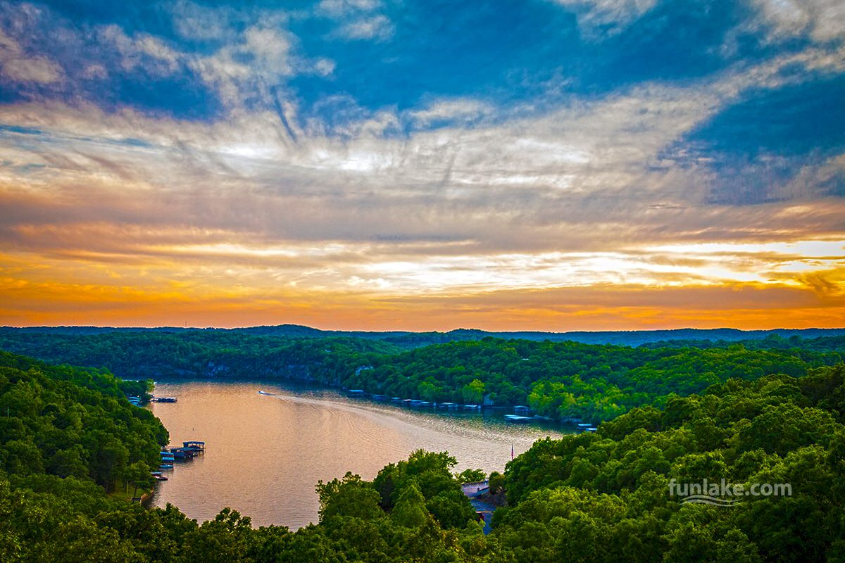 Lake of the Ozarks in Missouri is known for family-friendly recreational activities both on and off the water.