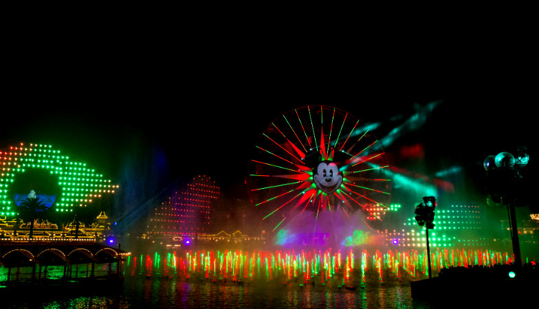 World of Color Winter Dreams in Disneyland Anaheim