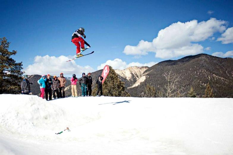 Snowboarder at Red River Ski Area