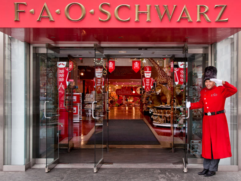 Dance on a piano at FAO Schwarz, the oldest toy store in America.
