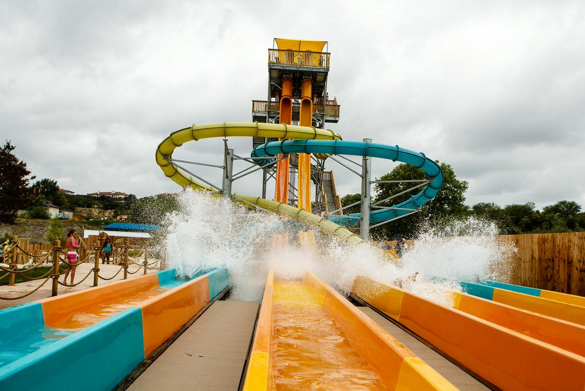 Water ride at Six Flags Fiesta Texas