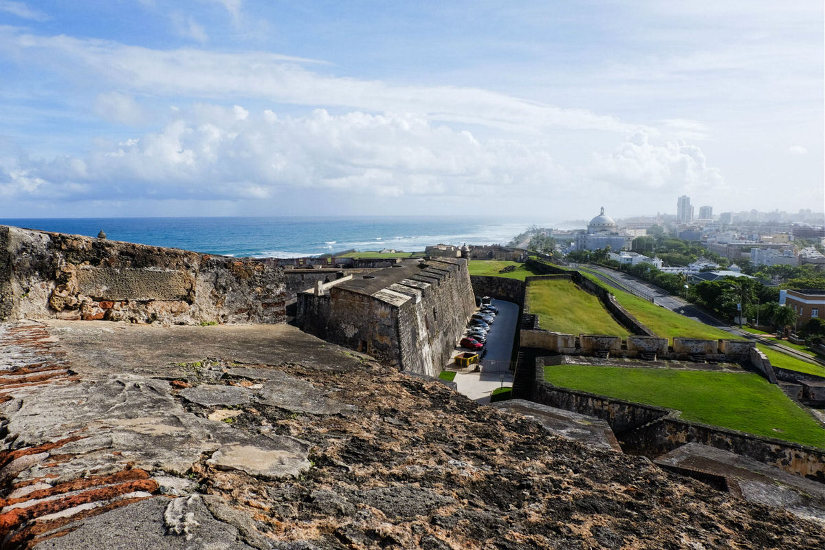 Old and new San Juan from San Cristobal