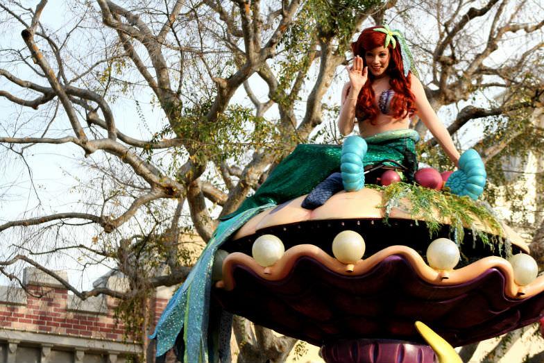 Ariel at a Disney Parade