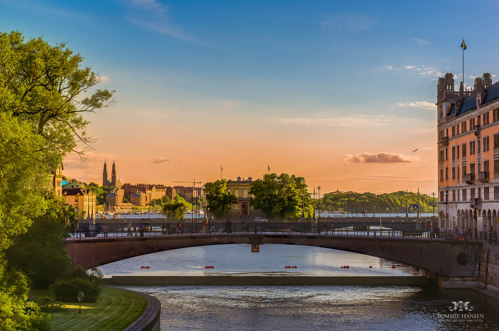 Bridge at Riksgatan in Stockholm, Sweden
