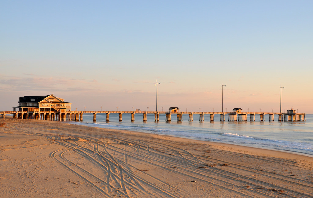 Jennette's Pier in Outer Banks, NC