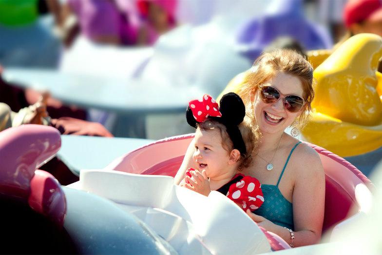 Mother and daughter at Magic Kingdom