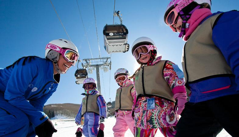 Ski school for kids at Beaver Creek Resort