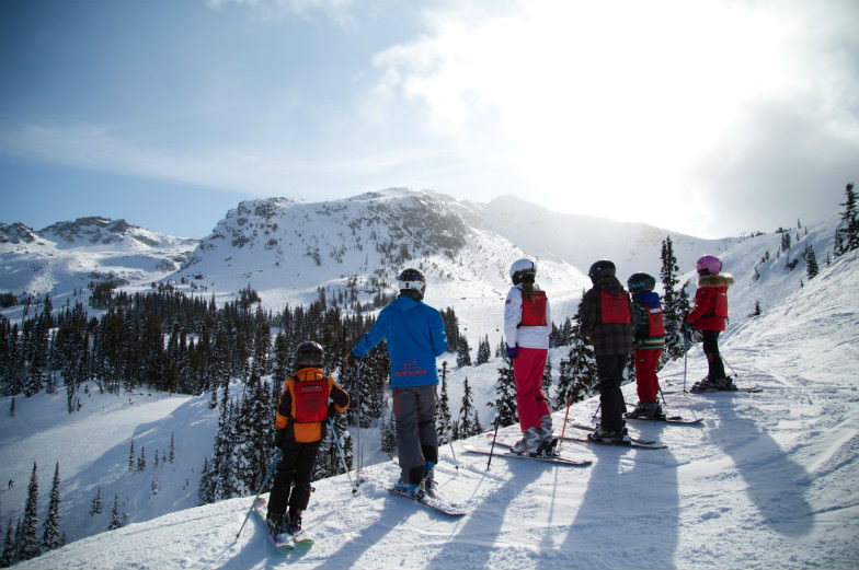 Family on the slopes at Whistler Blackcomb