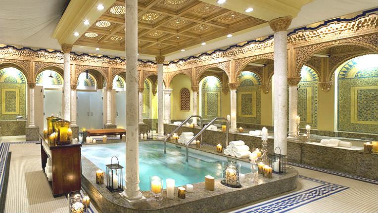 Ritual bathing area at the Waldorf Astoria Spa in Boca Raton Resort