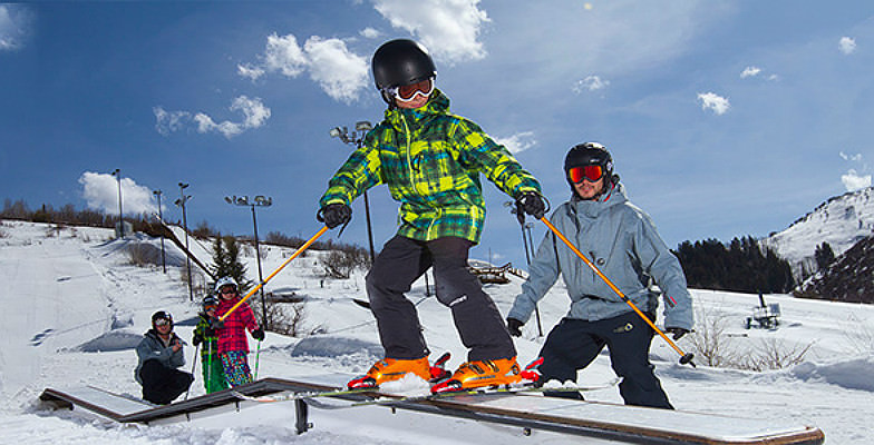 Young snowboarders at Utah Olympic Park