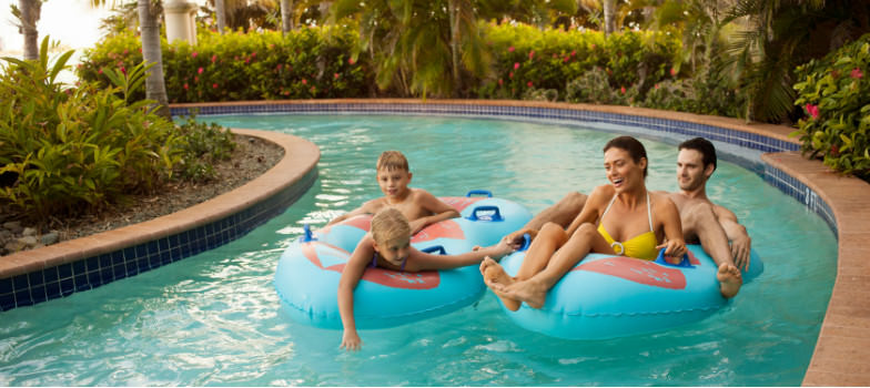 Lazy river at Coqui Water Park at the El Conquistador Resort