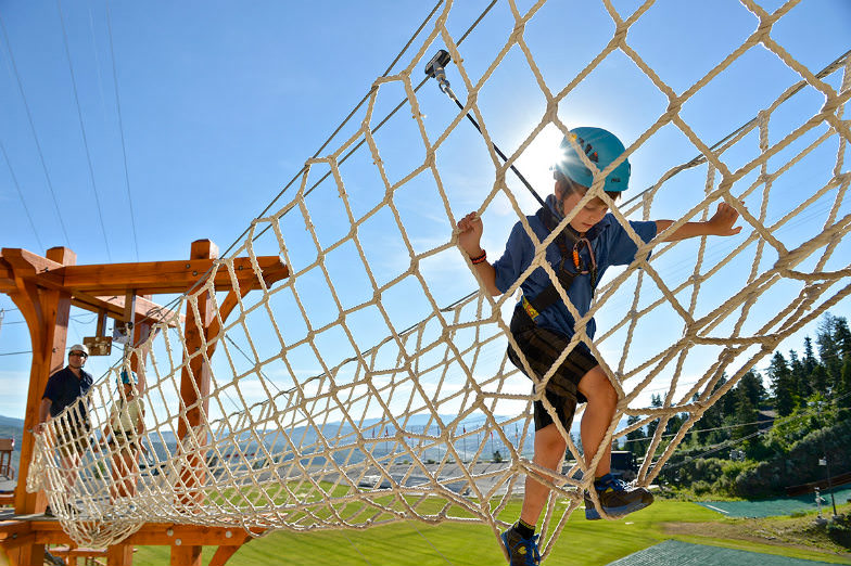 Challenge the kids on adventure rope courses and two ziplines at the Olympic Park.