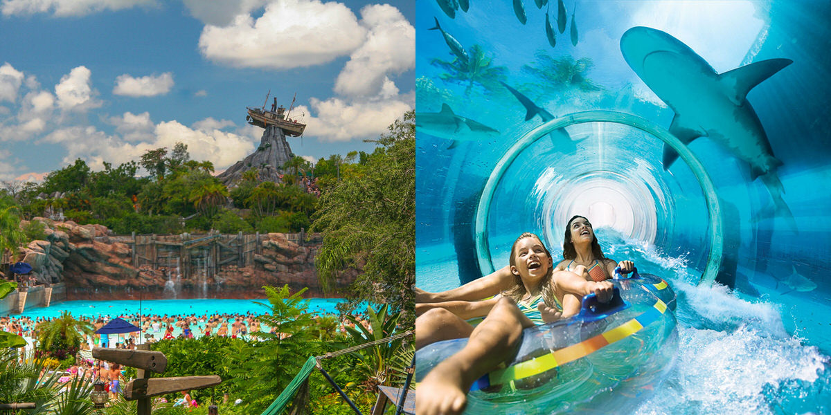 Aquaventure Waterpark in the Bahamas is a great alternative to Disney's Typhoon Lagoon.