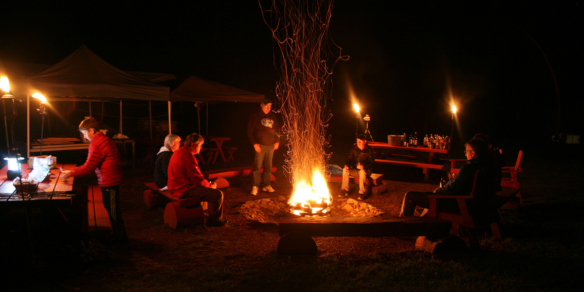Have a family bonfire with s'mores at Alta Crystal Resort