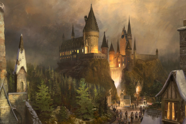 "Artist rendering of ""The Wizarding World of Harry Potter"""