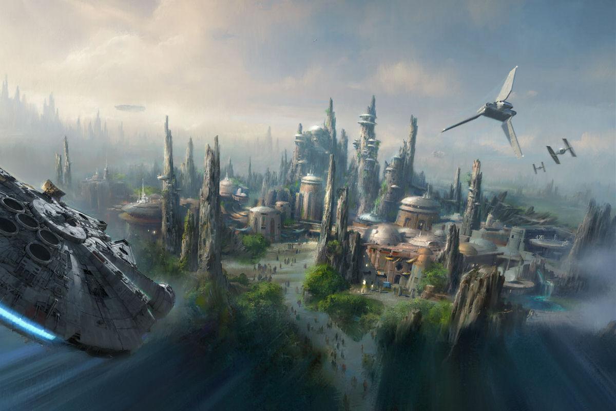 Artist concept of Star Wars-Themed Land at Disneyland Resort