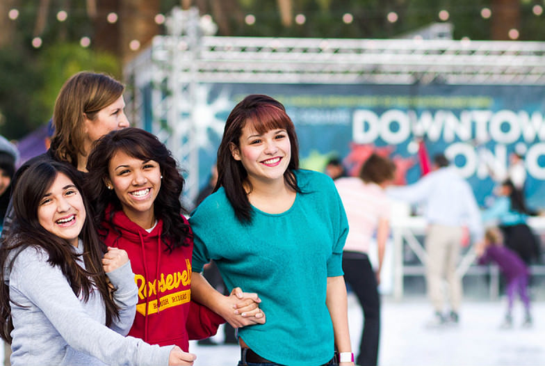 Downtown on Ice at Pershing Square