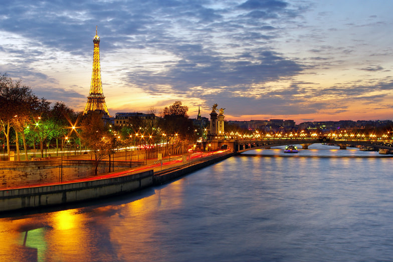 Eiffel Tower and the city of Paris