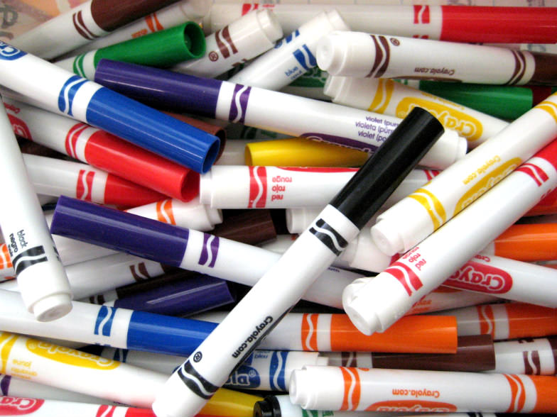 Let your child fingerpaint and use markers on the plane.
