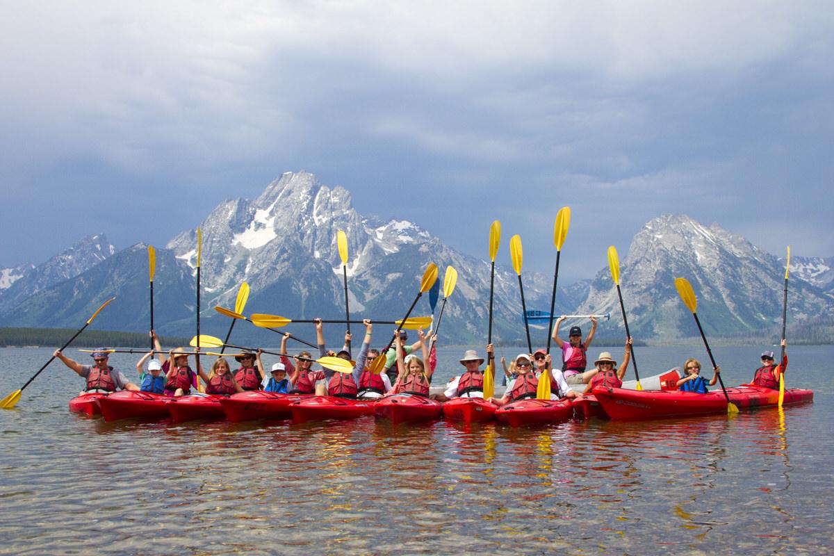 Kayaking on Jackson Lake