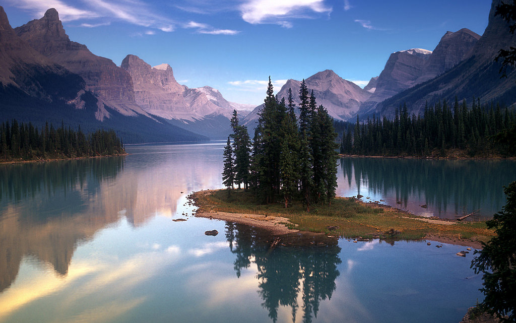 Spirit Island on Maligne Lake, Jasper National Park