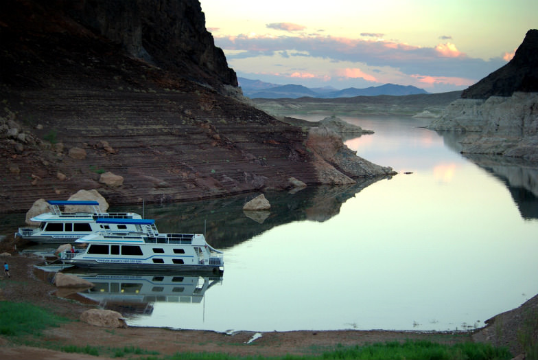 Houseboats on Lake Mead
