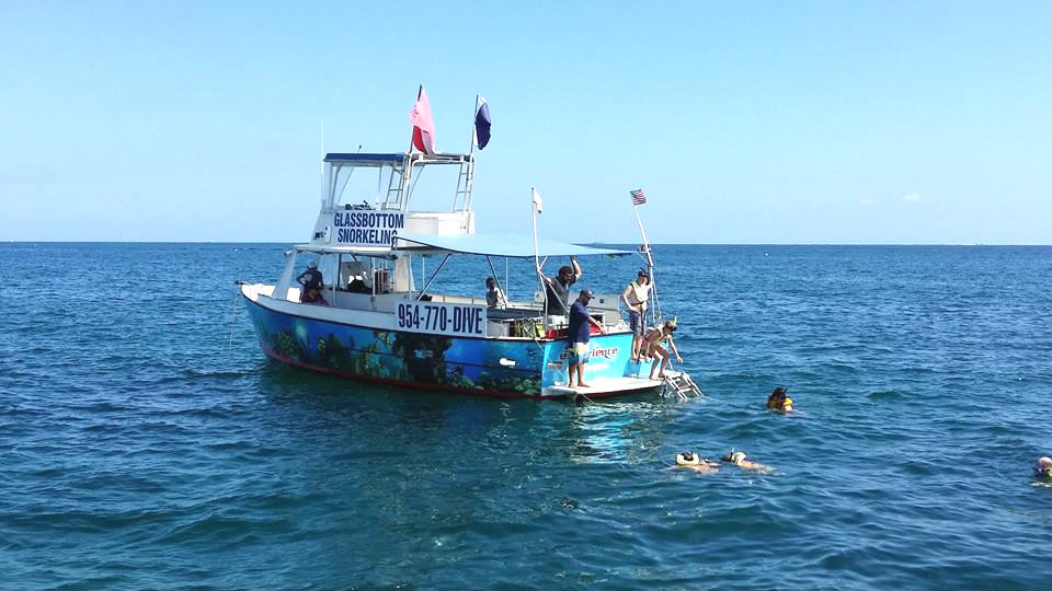 Watch for ocean life from the glass bottom boat and go snorkeling in Fort Lauderdale.