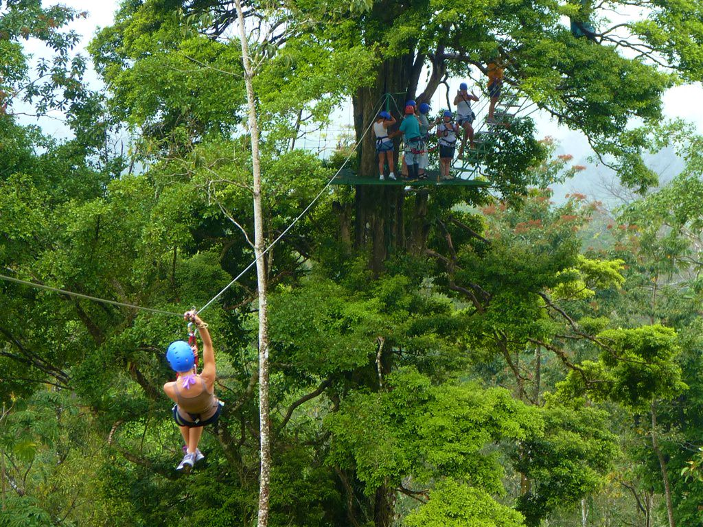 Zip lining at the Blue River Resort & Hot Springs
