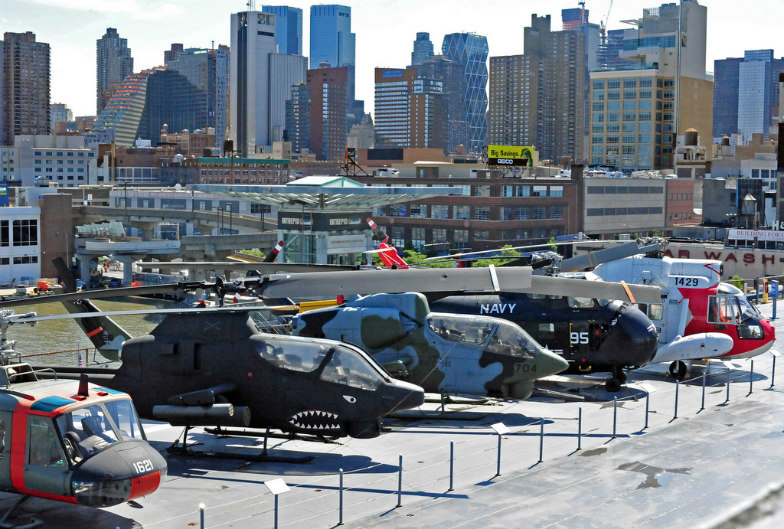 Helicopters at Intrepid Sea, Air and Space Museum