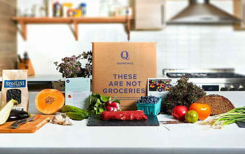 Healthy farm-to-door food box from Quinciple