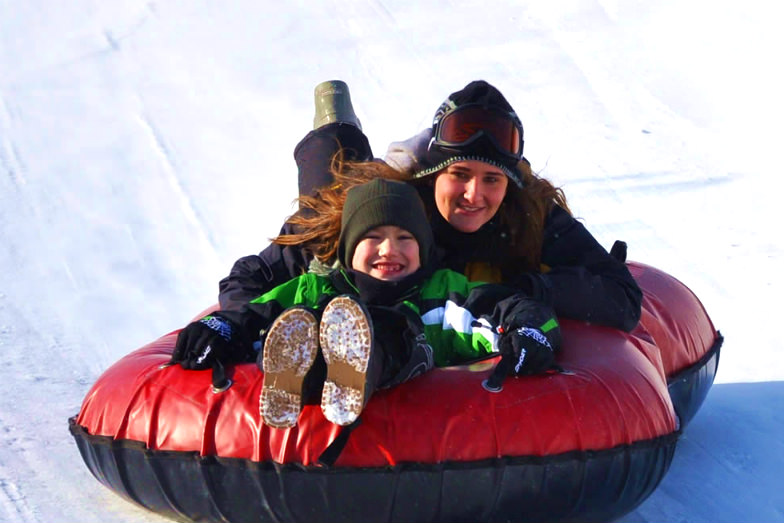 Snowtubing at Camelback Mountain