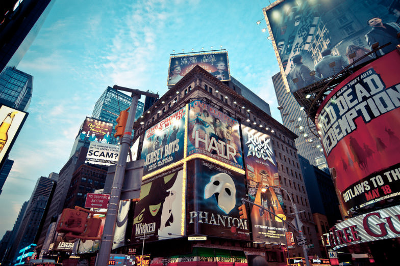 New York City's Broadway neon signs