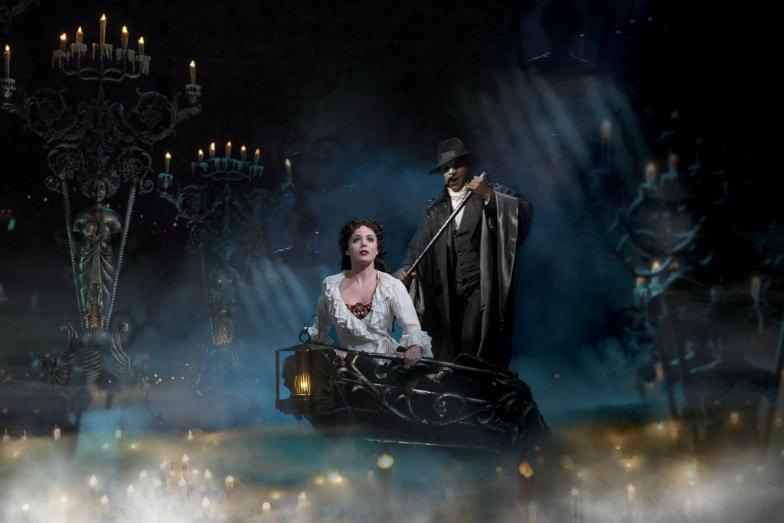 Phantom and Christine in the Phantom of the Opera