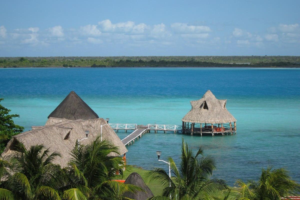Bacalar Lagoon in Bacalar, Mexico