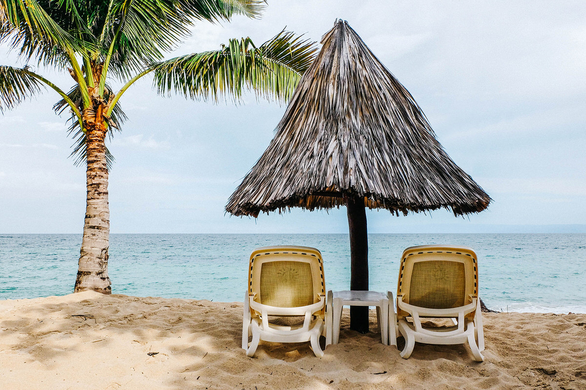 The small island of Cayo Levantado in the Dominican Republic is a great place for a mom and dad only getaway.