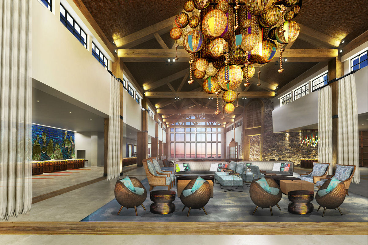 Lobby at Loews Sapphire Falls
