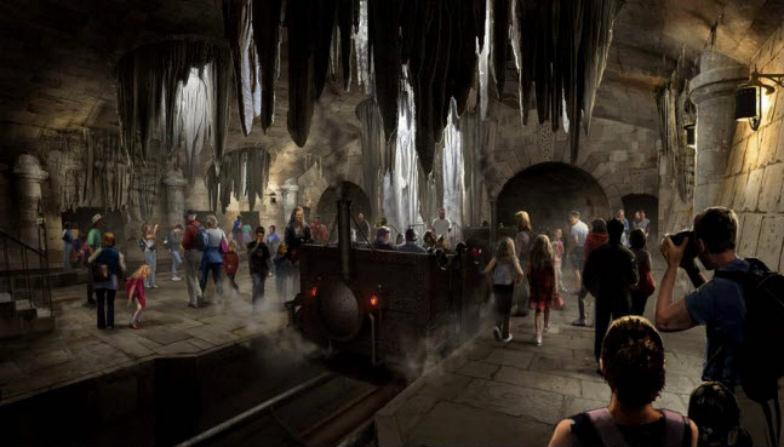 Rendering of Escape from Gringotts