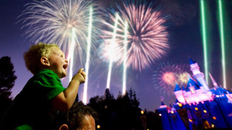 Fireworks at Disneyland Anaheim